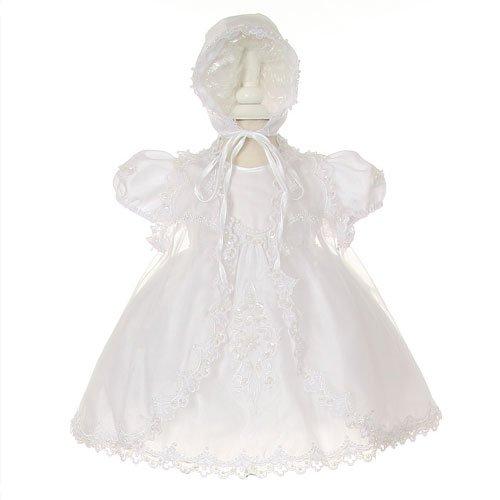 Size: 18M - Baptism Dress 3 Pc Set (Size 6M, 12M, 18M, 24M)