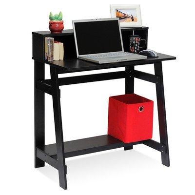 Annie Computer Desk with Built-in Hutch Black