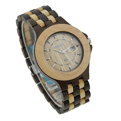 Aggice Handmade Rosewood and Maple Watch, Japanese Quartz Movement with the tank can diving Wooden Watch (Wooden Tanks compare prices)