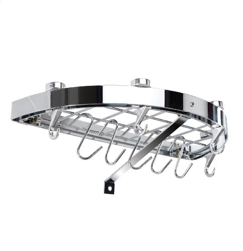 Hahn Wall Rack Half Round Chrome