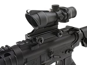 GDT Tactical Military Combat CQB Style 4x32 Scope True Fiber Optic Red Illuminated