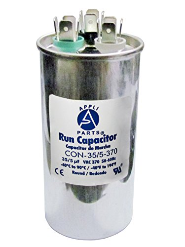 Dual Run Capacitor 35+5 MFD uF 370 Volt Round Can - UL Certified (Can Capacitor compare prices)