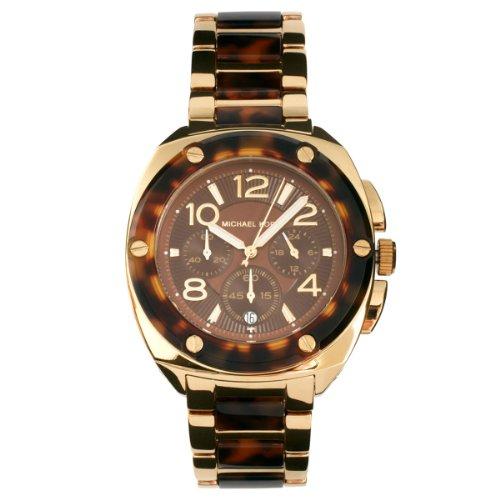 Michael Kors Ladies Gold Tortoise Chronograph Watch
