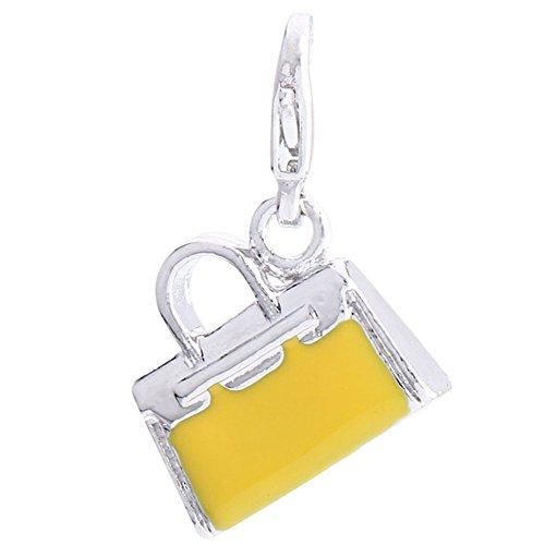 Ciondolo a forma di borsetta viennagold Morella giallo