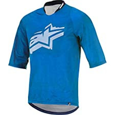 Alpinestars Totem 3/4 Jersey, X-Large, Bright Blue White