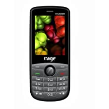 Rage Thunder (Black+Grey) Colour Dual SIM Mobile with Camera & FM Radio and 1800 mAh Long run battery