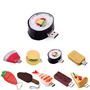 HDE Novelty Food Shaped USB Flash Drive (8GB, Sushi Roll)