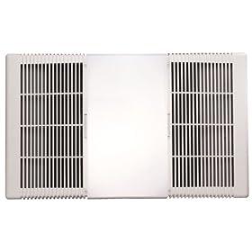 Nutone 665rp 70 cfm 1300 watt heater 100 watt incandescent light go price shop for Nutone bathroom exhaust fan installation