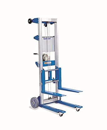 Genie Lift, GL- 4, Heavy-Duty Aluminum Manual Lift,500 lbs Load Capacity, Lift Height 5' 11""
