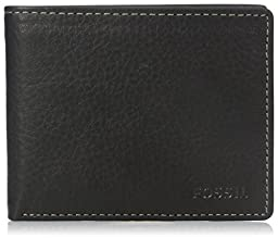 Fossil Men\'s Lincoln Bifold with Flip Id, Black, One Size