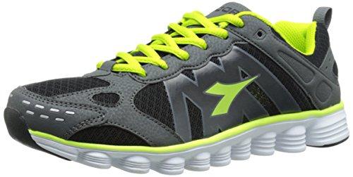 Diadora Coverciano Trainer Shoe, Black/Matchwinner Yellow, 7.5 M US