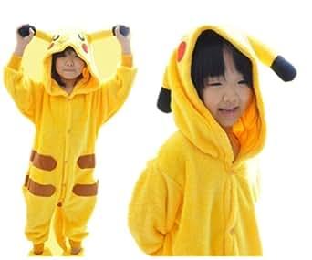 """Children Unisex Kigurumi Onesie Animal Pajama Cosplay Costume Pyjamas Pikachu (TAG 105 M(height  47""""-51"""" / 120cm-130cm))"""