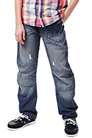 Limited Bow Leg Ribbed Waist Pull On Denim Jeans
