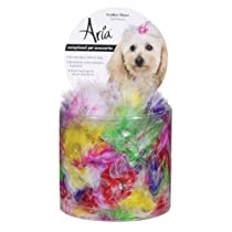 Aria Feather Dog Bows Canister 100-Pack