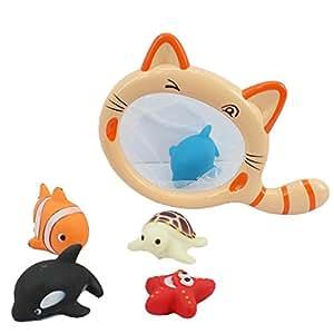 bath tub toys water bugs developmental bath toy net splat floating ring toss game. Black Bedroom Furniture Sets. Home Design Ideas