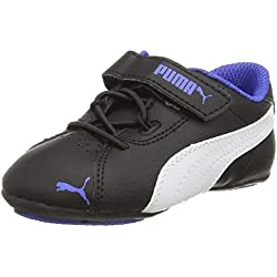Puma Janine Dance 2 V Inf, Mädchen Sneakers, Schwarz (black-white-dazzling blue 04), 35 EU (2.5 Kinder UK)