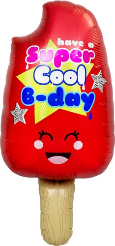 Cool Bday Popsicle Helium Foil Balloon - 34 inch