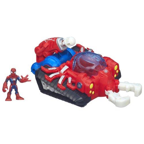 Playskool Heroes Marvel Super Hero Adventures Web Strike Tank Vehicle with Spider-Man Figure - 1