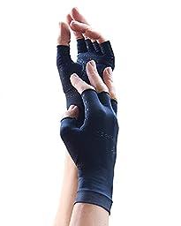 Tommie Copper Women\'s Motion Fingerless Gloves, Black, Medium