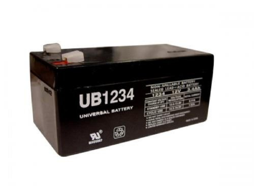 Battery For Wp3-12 Backup 12 Volt 3.4Ah