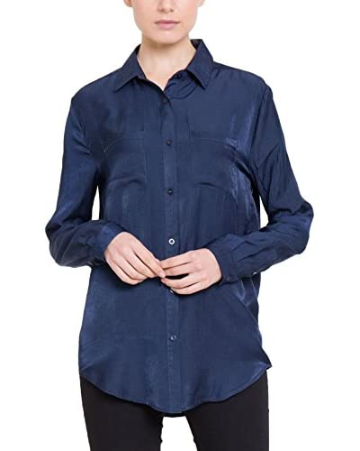 BIG STAR Bluse Silky_Shirt_Ls marine