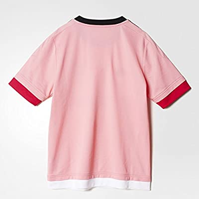 adidas Juventus Youth Away Replica Soccer Jersey 15/16 (Pink, Bright Pink, Black, White)