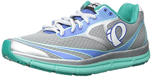Pearl Izumi Women's W EM Road N 2 V3 Running Shoe, Silver/Aqua Mint, 9 B US (Supinator Shoes compare prices)