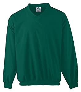 Augusta Adult Micro Poly Windshirt/Lined (Dark Green) (4X)