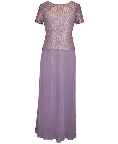 Plus Size Orchid Lace Evening Dress