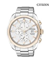 Citizen Eco-Drive Analog White Dial Men's Watch - CA0024-55A