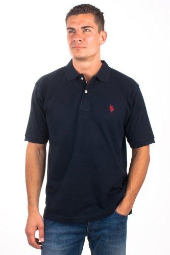 U.S.Polo Assn. men's Poloshirt Pique Navy USP1054, Größe:XXL
