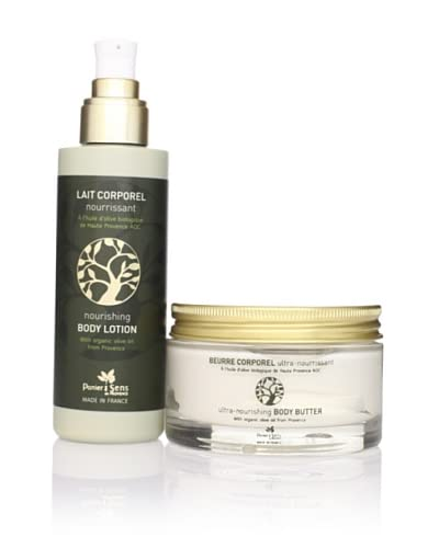 Panier des Sens Organic Olive Oil Body Lotion & Body Butter, Set of 2