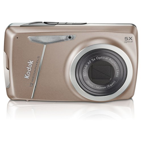 Kodak EasyShare M550 12 MP Digital Camera with 5x Wide Angle Optical Zoom and 2.7 Inch LCD (Tan)