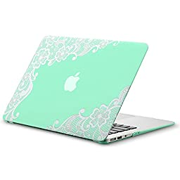 Kuzy - AIR 13-inch Lace Mint GREEN Rubberized Hard Case for MacBook Air 13.3\