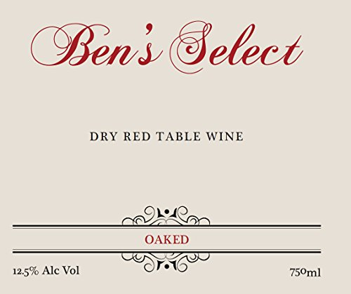 "Nv Ben Ish Winery ""Ben'S Select"" Dry Red Table Wine With Personalized Label 750 Ml"