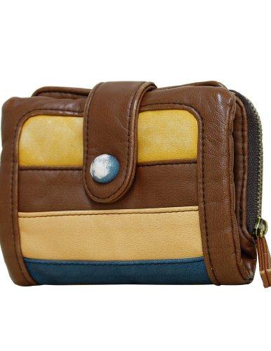 (ラシェル)La ciel briller 2 二つ折り 財布 MA/BL/マスタード/ブルー(DKW-90038MABL)
