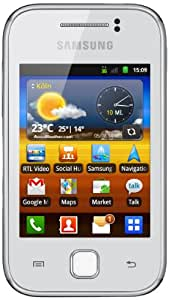 Samsung Galaxy Y S5360 Smartphone (7,62 cm (3 Zoll) Display, Touchscreen, 2 Megapixel Kamera, Android 2.3) pure-white