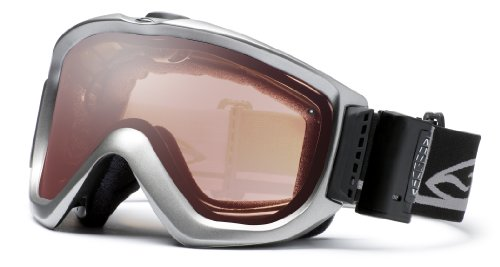 Smith 2010/11 Knowledge Turbo Fan Otg Ski Goggles W/ Mirror Lens (Graphite Foundation Frames - Sensor Mirror Lens)