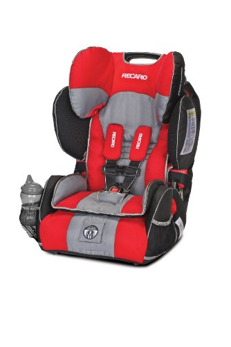 Best Buy! RECARO Performance SPORT Combination Harness to Booster, Redd