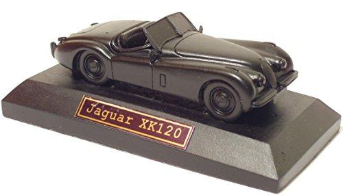 Jaguar XK120 Model on Plinth - Hand Crafted - Coal Model Car