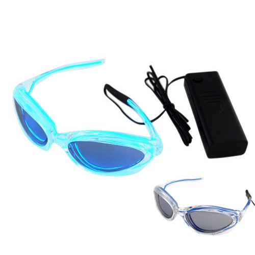 Metro Shop Stylish Led Glasses Funny Gadgets Rave Party Disco Light - Blue