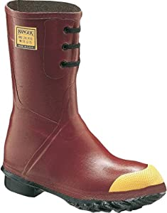 Honeywell Safety 6145-7 Ranger Rubber Insulated Mid Pac Men's Safety Boots with Steel Toe, Size-7, Red