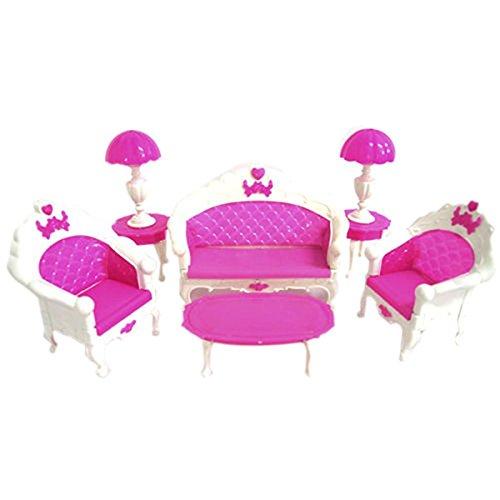 PIXNOR Puppenhaus Spielzeug-Barbie Doll Sofa