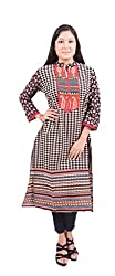 Krivi By Kk Women's Cotton Kurti (KRV-16-D_Multi-Coloured_XL)
