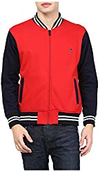Okane Men's Fleece Sweartshirt (51668 RED, Red, Medium)
