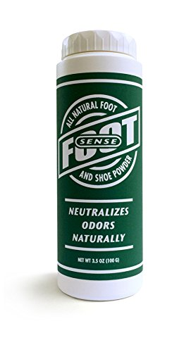 FOOT SENSE All Natural Smelly Foot & Shoe Powder - 3.5 Oz/100 Grams - Foot Odor Eliminator lasts up to 6 months. Safely kills bacteria. Natural formula for smelly shoes and stinky feet. Safe & natural. Protects disinfects and deodorizes. (Smelly Feet Powder compare prices)