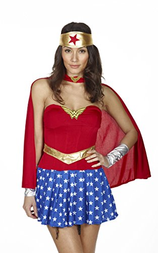 RedRibbonLingerie GOLD STANDARD Sexy Wonder Woman Outfit - Standard Sizes 8 to 12