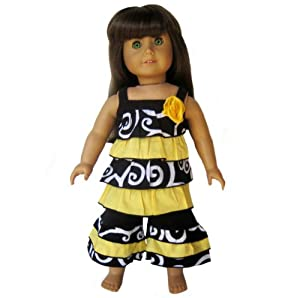 New Bumble Bee Clothing Outfit Fits American Girl Dolls