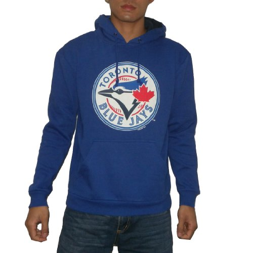 MLB Toronto Blue Jays Mens Athletic Warm Pullover Hoodie / Sweatshirt Jacket (Size: L )