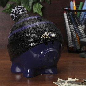 Baltimore Ravens Official NFL 13 inch x 10 inch Piggy Bank Large Hat by Forever Collectibles 736037
